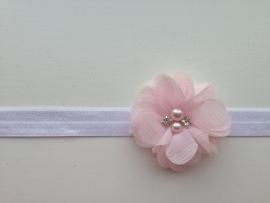 003 Haarband smal kleine bloem