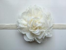 067 haarband grote bloem