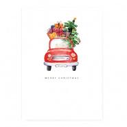 Sieradenkaart Merry Christmas auto