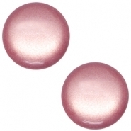 Slider zilver met cabochon soft tone shiny antique pink