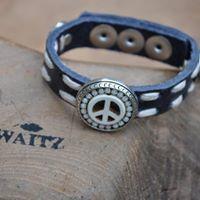 Waitz leren armband 15mm