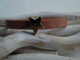 Cuoio armband ster bruin