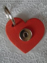Sleutel/tas hanger hart koraal                      th107
