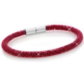 Armband met kristal facet velvet red