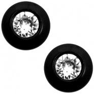 Slider zilver nero black met Swarovski