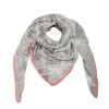 Sjaal print parade grijs