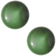 Slider zilver met cabochon centroperla dark fern green