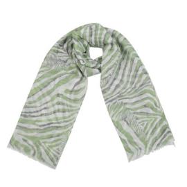 Sjaal hello zebra groen