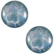 Slider zilver met cabochon leopard dafne blue
