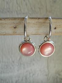 Oorbellen Shiny pink