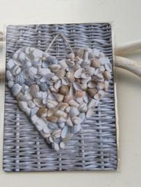 Tekstbord schelpen hart