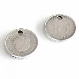 DQ metalen bedel 10 cent