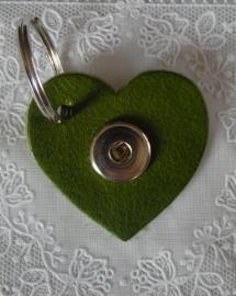 Sleutel/tas hanger hart Verde                  th083