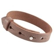 Cuoio armband chocolato brown large