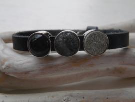 Cuoio armband black