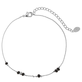 Enkelbandje Tiny beads zilver plated