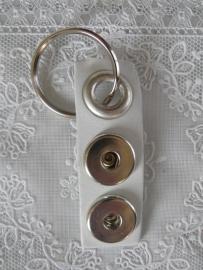 Sleutel/tas hanger 2 drukkers wit                       sh002