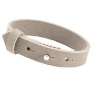 Cuoio armband grey beige