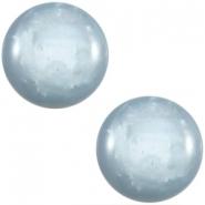 Slider zilver met cabochon mosso shiny light sapphira