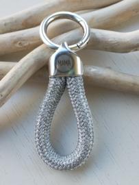 Sleutel/tas hanger mama zilver