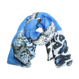 Sjaal wild animals blauw
