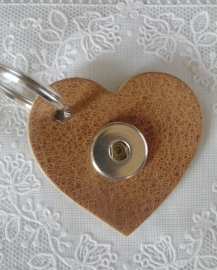 Sleutel/tas hanger hart volc natural                  th010