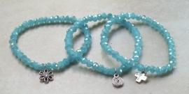 Armband opal aquamarina blauw facet