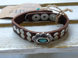 Waitz leren armband 15 mm