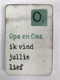 "Magneet hout ""Opa en Oma"""