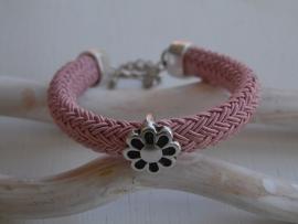 Armband regaliz koord roze