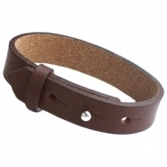 Cuoio armband chocolat bruin