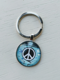 Sleutelhanger peace turquoise