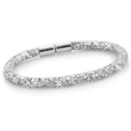 Armband met kristal facet zilver