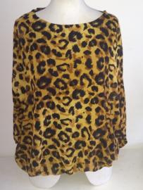 Blouse met Leopard print okergeel