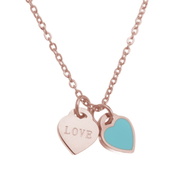 Stainless steel ketting love rose