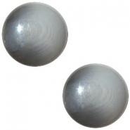 Slider zilver met cabochon  jacquard dark grey