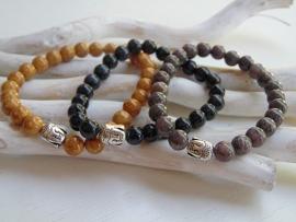 Buddha armband met jadekralen