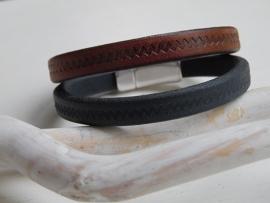 Leren armband met motief