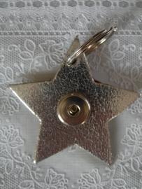 Sleutel/tashanger ster zilver metalic                 th034