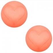 Slider zilver met cabochon hart matt  rose peach