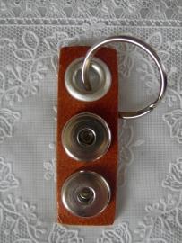Sleutel/tashanger 2 drukkers cognac esb   sh00