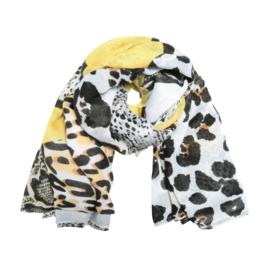 Sjaal wild animals geel