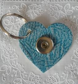 Sleutel/tas hanger hart douro blauw                   th097