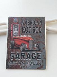 "Tekstbord "" American hotrod garage"""