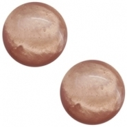 Slider zilver met cabochon mosso shinny light rust brown