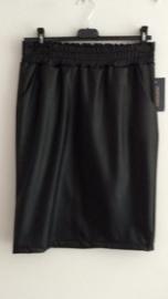 Leather look rokje zwart