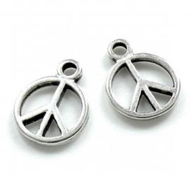 DQ metalen bedel rond peace
