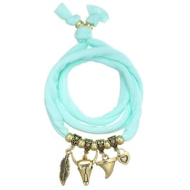 Wrap armband ster turquoise