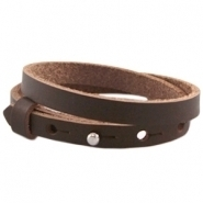 Cuoio armband dubbel fudge brown