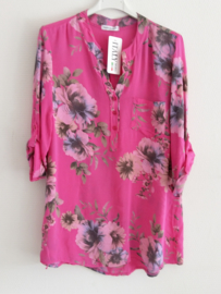 Blouse flower fuchsia